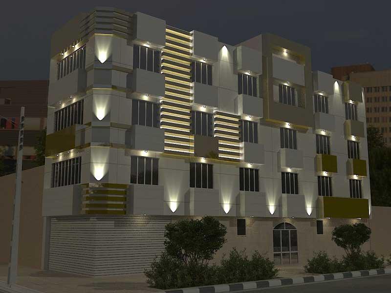 نور پردازی ساختمان مسکونی
