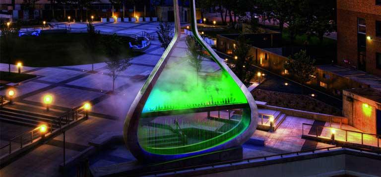 نورپردازی مجسمه های شهری