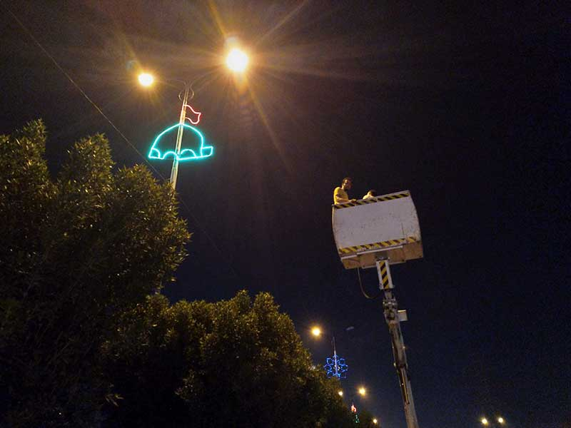 نور پردازی شهرداری منطقه 3 اهواز