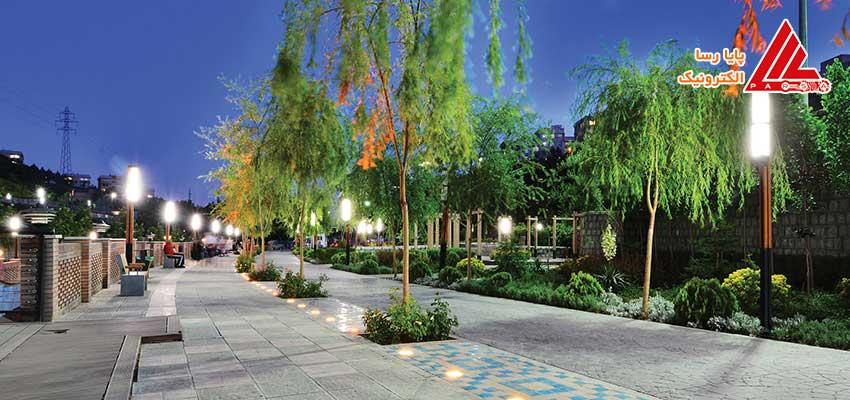 نورپردازی شبانه مناظر شهری